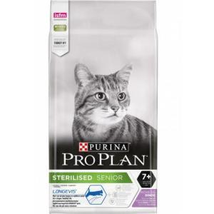 Корм для кошек Pro Plan Sterilised Senior 7+, 10 кг, индейка