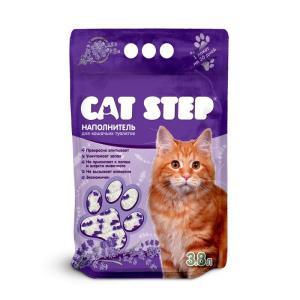 Наполнитель для кошачьих туалетов Cat Step Лаванда, 1.8 кг, 3.6 л