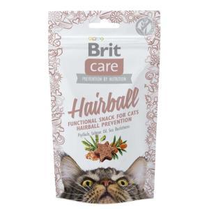 Лакомство для кошек Brit Care Hairball, 60 г, утка