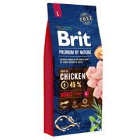 Фотография товара Корм для собак Brit Premium by Nature Adult L, 15 кг, курица