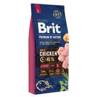 Фотография товара Корм для щенков Brit Premium by Nature Junior L, 15 кг, курица