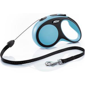 Поводок-рулетка для собак Flexi New Comfort S Cord, синий