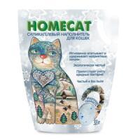 Фотография товара Наполнитель для кошачьего туалета Homecat Морозная свежесть, 1.8 кг