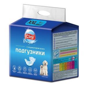 Памперсы для собак Cliny, размер ХXL, 6 шт.