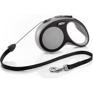 Поводок-рулетка для собак Flexi New Comfort S Cord, серый