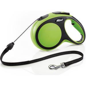 Поводок-рулетка для собак Flexi New Comfort M Cord, зеленый