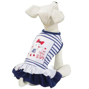 Платье для собак Triol Sweet girl M, размер 30см., бежево-серый