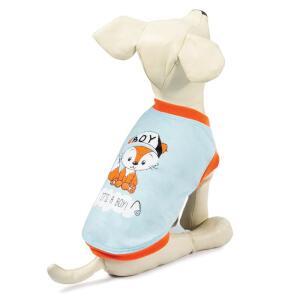 Майка для собак Triol Лисенок L, размер 35см., бежево-серый