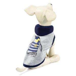 Футболка для собак Triol Пингвин S, размер 25см., бежево-серый