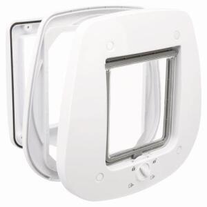 Дверца для кошек и собак Trixie 4-Way Flap Door for Glass, размер 27х26см., белый