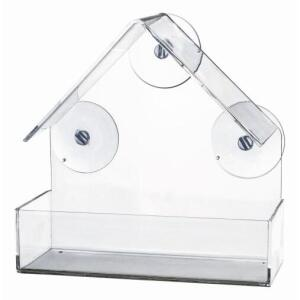 Оконная кормушка для птиц Trixie, размер 15х15х6см.