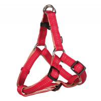 Фотография товара Шлейка для собак Trixie Elegance One Touch S, красный/бежевый