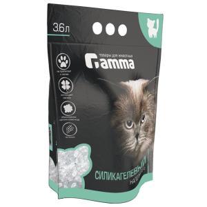 Наполнитель для кошачьего туалета Гамма Силикагель, 1.5 кг, 3.6 л, силикагель, размер 28х37см., фиолетовый
