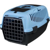 Фотография товара Бокс-переноска для собак и кошек Trixie Capri 2, размер 2, размер 37х34х55см., темно-серый / голубой