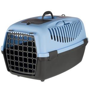 Бокс-переноска для собак и кошек Trixie Capri 3, размер 3, размер 40х38х61см., светло-серый / темно-синий