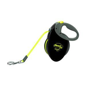 Поводок-рулетка для собак Flexi Giant Neon  L, черный-неон