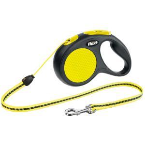 Поводок-рулетка для собак Flexi Neon Safety Plus S