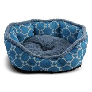 Лежанка для собак и кошек Triol Лазурный берег М, размер 57х52х14см., голубой