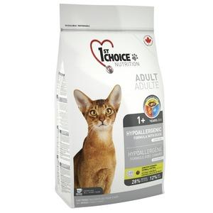 Корм для кошек 1st Choice Hypoallergenic, 6 кг, утка
