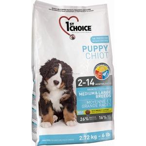 Корм для щенков 1st Choice Puppy Medium & Large breeds, 2.72 кг, цыпленок с овощами