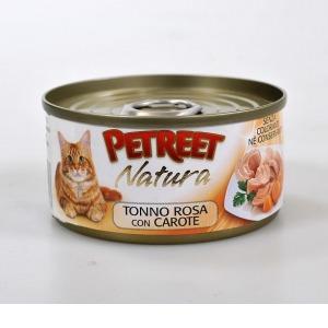 Корм для кошек Petreet, 85 г, тунец с моркоью