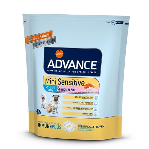 Корм для собак Advance Mini Sensitive, 800 г, лосось с рисом