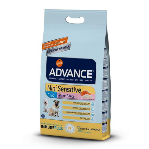 Корм для собак Advance Mini Sensitive, 3 кг, лосось с рисом