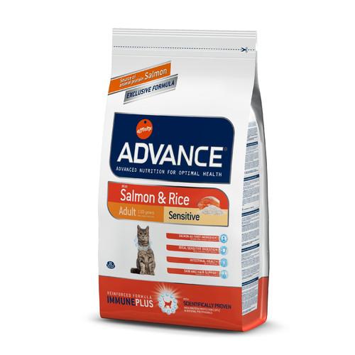 Корм для кошек Advance Adult Sensitive, 1.5 кг, лосось с рисом