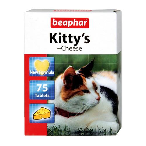Витамины для кошек Beaphar Kitty's + Cheese, 75 таб.