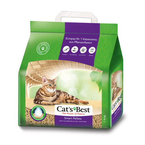 Наполнитель для кошачьего туалета Cat's Best Smart Pellets, 2.5 кг, 5 л