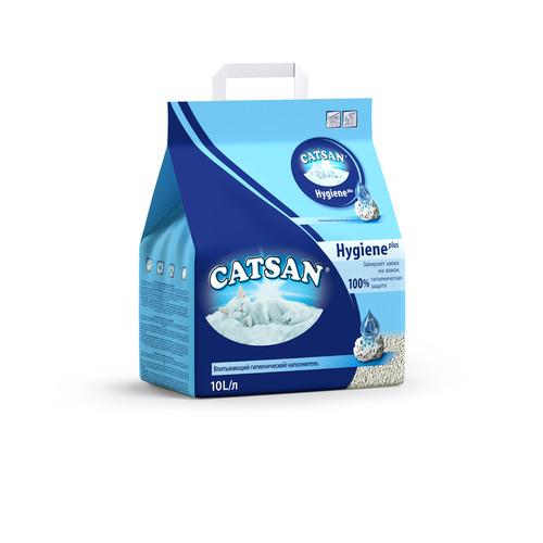 Наполнитель для кошачьего туалета Catsan hygiene plus, 5 кг, 10 л