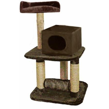 Игровая площадка для кошек Fauna International BUERE, размер 54х54х104см., коричневый