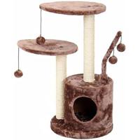 Фотография товара Домик-когтеточка для кошек Fauna International Studio, размер 35х35х71см., коричневый