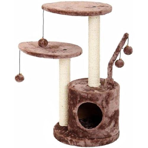 Домик-когтеточка для кошек Fauna International Studio, размер 35х35х71см., коричневый