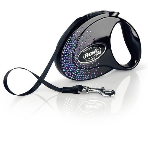 Рулетка для собак Flexi Glam Splash Mystic M, черный