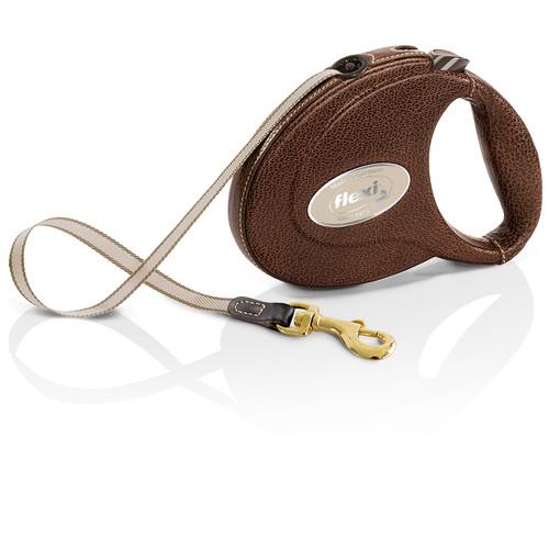 Рулетка для собак Flexi Leather СС M, коричневый
