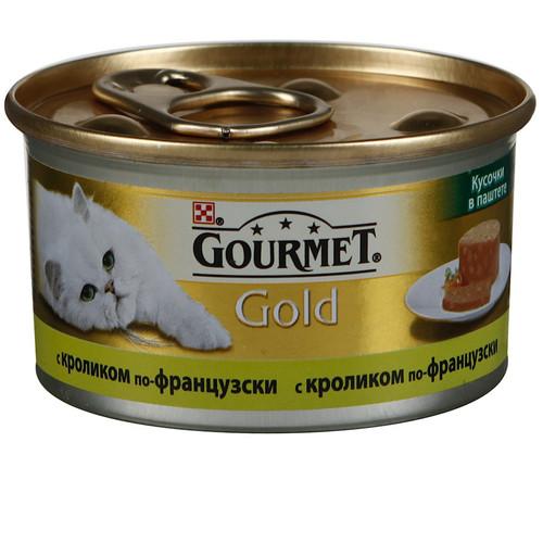 Корм для кошек Gourmet Gold, 85 г, кролик