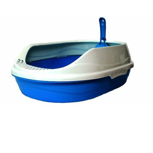 Овальный туалет для кошек Homecat, размер 52х38х17см., голубой