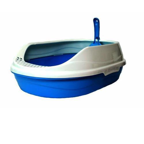 Овальный туалет для кошек Homecat, размер 43х31х16см., голубой