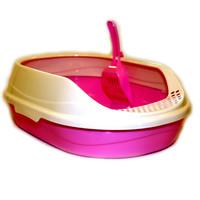 Фотография товара Овальный туалет для кошек Homecat, размер 52х38х17см., розовый