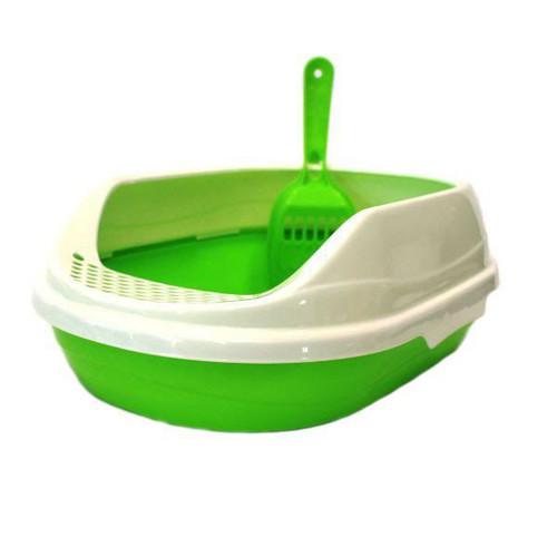 Овальный туалет для кошек Homecat, размер 52х38х17см., зеленый