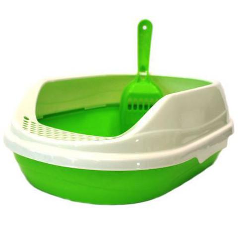Овальный туалет для кошек Homecat, размер 43х31х16см., зеленый