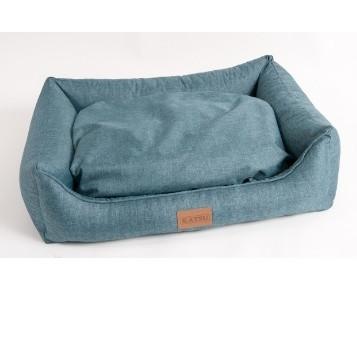 Лежанка для собак Katsu Sofa Opi M, размер 70х50х21см., аквамарин