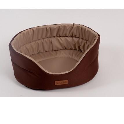 Лежак для собак Katsu Classic Shine  XXL, размер 70х62х25см., коричневый/бежевый