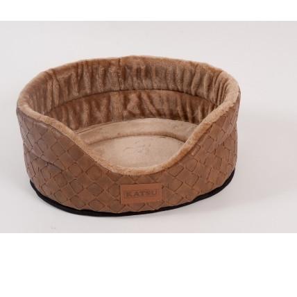 Лежак для собак Katsu Skaj S, размер 46х42х18см., коричневый