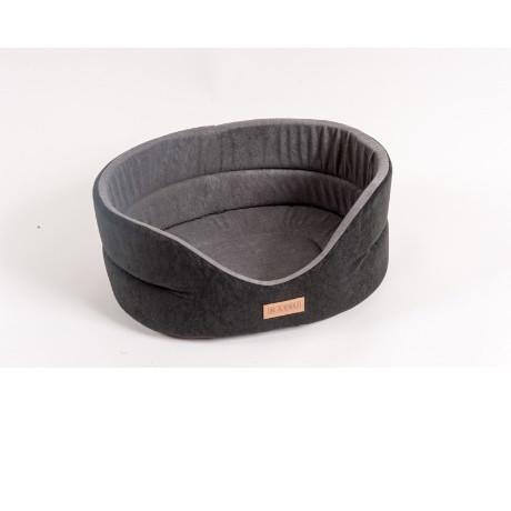 Лежанка для собак Katsu Suedine  S, размер 46х42х18см., черный/серый