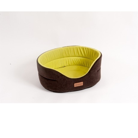 Лежанка для собак Katsu L, размер 58х52х21см., коричневый/желтый