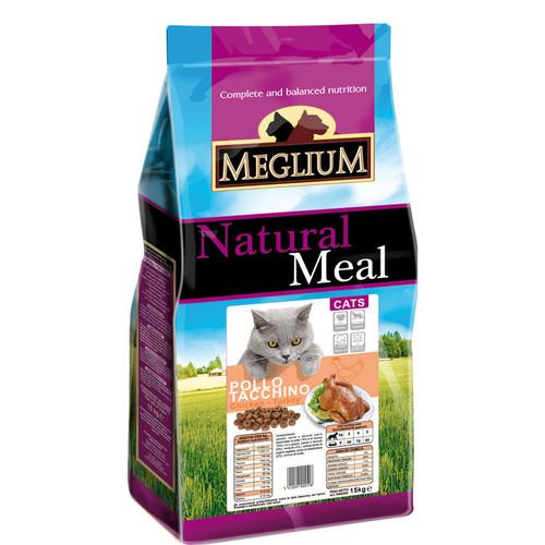 Корм для кошек MEGLIUM Cat Adult, 3 кг, курица и индейка