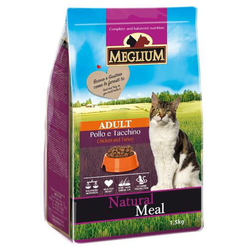 Корм для кошек MEGLIUM Cat Adult, 1.5 кг, курица и индейка
