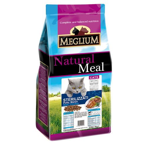 Корм для кошек MEGLIUM Cat Adult, 3 кг, курица с говядиной и рыбой